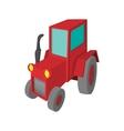 Tractor cartoon icon vector image