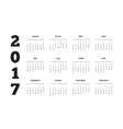 2017 year simple calendar on french language vector image