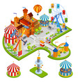 Amusement Park Isometric Composition vector image