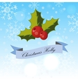 branch of holly vector image