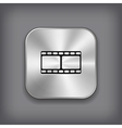 Film icon - metal app button vector image
