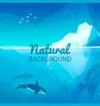 iceberg nature background vector image