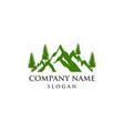 mountain tree logo vector image