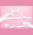 paper art cute heart shape mobile hanging vector image