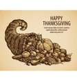 Thanksgiving day Holiday greeting card Vintage vector image