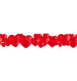 valentines day hearts love balloons on white vector image