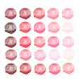 watercolors red pink blobs vector image