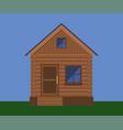 wooden facade of a village house vector image