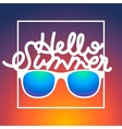 Summertime rbackground with sunglasses and text vector image