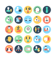 Human Resources Colored Icons 4 vector image