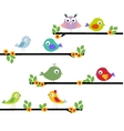 beautiful of birds on a limb vector image vector image