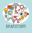 brainstorm thinking idea strategy image vector image