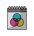calendar dates commitments vector image