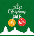 christmas sale poster greeting price tag offer vector image