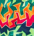 colored graffiti seamless pattern vector image