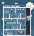 Concept business people in house agreement vector image