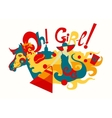 Girl And Horse Decorative vector image