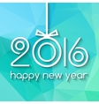 Happy New Year 2016 Creative Green Triangle vector image