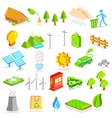 Isometric Environment Icon vector image