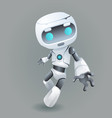 mascot robot innovation technology science fiction vector image
