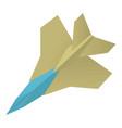 origami aircraft icon cartoon style vector image