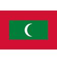 Rectangular Maldives flag vector image
