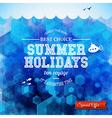 Summer design Poster for summer holidays Hexagon vector image