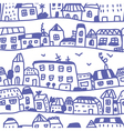 Houses seamless pattern doodle vector image