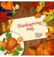 Thanksgiving Turkey dinner invitation card vector image