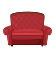 A cushion chair vector image