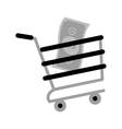 shopping cart online bill money gray color vector image
