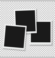 Instant Photo Blank Photo Frame Mockup vector image vector image