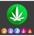 marijuana cannabis icon flat web sign symbol logo vector image