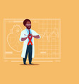 african american doctor hold cancer ribbon disease vector image