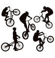 Biker silhouettes set vector image vector image