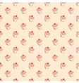 Sweet hand drawn cherry cake decoration wallpaper vector image