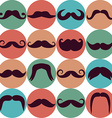Moustaches set Design elements Seamless pattern vector image