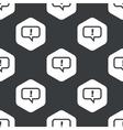Black hexagon answer pattern vector image