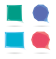 Set of low poly geometric speech bubble vector image