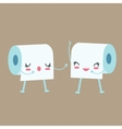 tissue toilet paper character talk to each other vector image