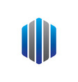 abstract hexagon line business logo vector image