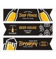 beer horizontal vintage banners vector image