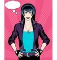 Caucasian Vampire Punk Rock girl poster vector image