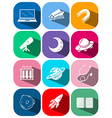 Different icons of science and technology vector image