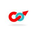 Go word motivation monogram logo vector image