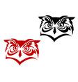 Owl tattoo vector image