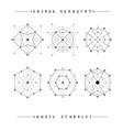 Sacred geometry signs alchemy religion vector image