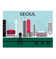 Seoul city vector image