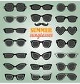 Summer sunglasses set vector image