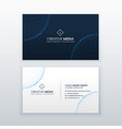 technology style business card design template vector image
